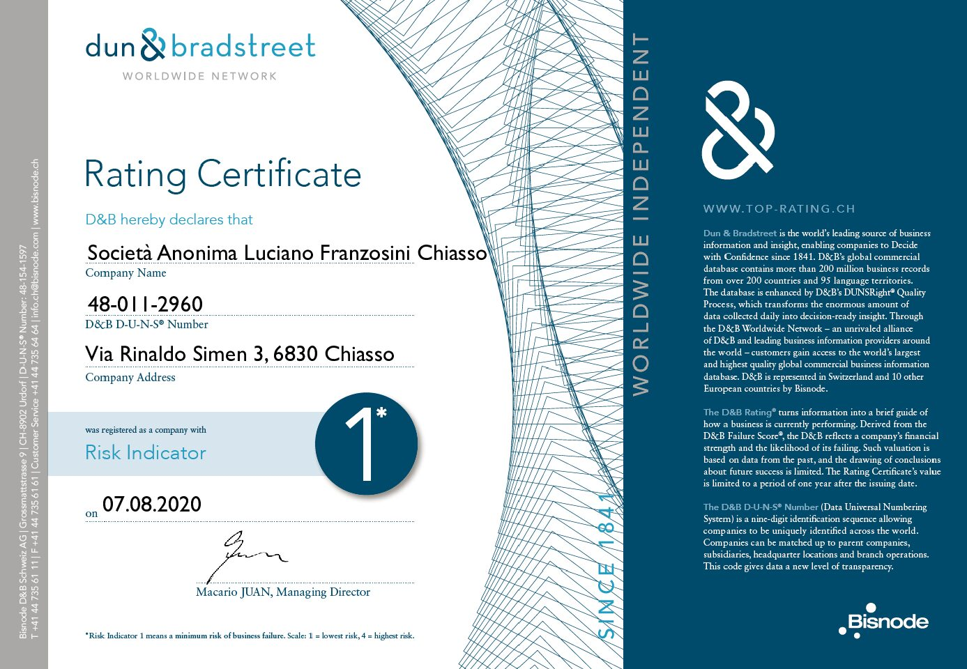 Rating_Certificate_Franzosini_monaco